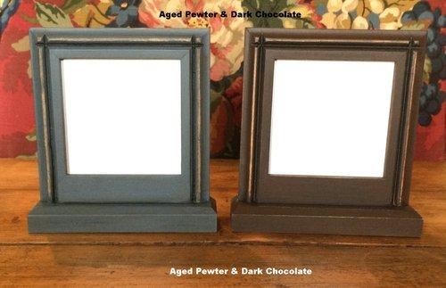 Lone Elm Lane Petite Pedestal Frame Dark Chocolate