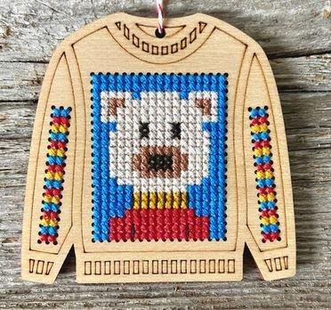 Canadian Stitchery Ugly Sweater Polar Bear kit