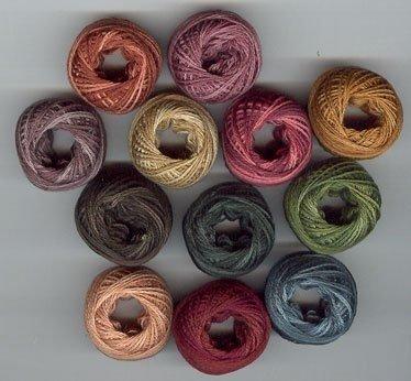 Valdani Rosewood Manor Quaker Diamond or Quakers & Quilts Thread Pack