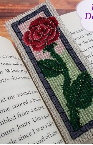 KeB Studio Creations Enchanted Red Rose bookmark