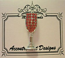Accoutrement Designs Pink Champagne Glass