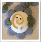 Shepherd's Bush Happy Ewe Blue Flower Button (w/pattern)