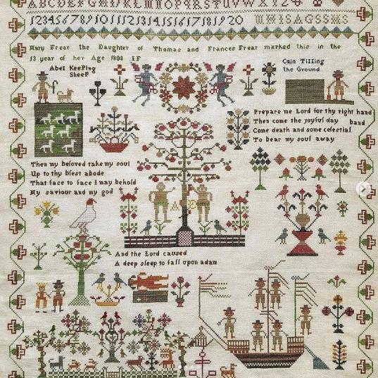 Giulia Punti Antichi Mary Frear 1808 Sampler