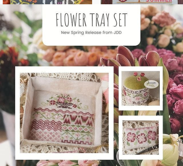 Jeannette Douglas Designs Flower Tray Set