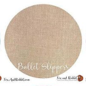 Fox and Rabbit Ballet Slippers Linen