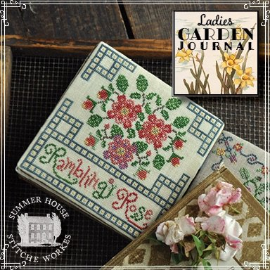 Summer House stitche works Ladies Garden Journal: Rambling Rose 4 of 6