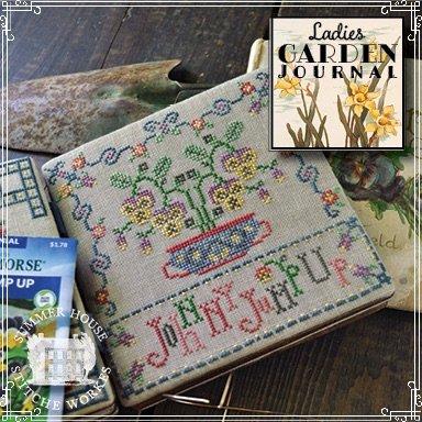 Summer House stitche works Ladies Garden Journal: Johnny Jump Up 5 of 6