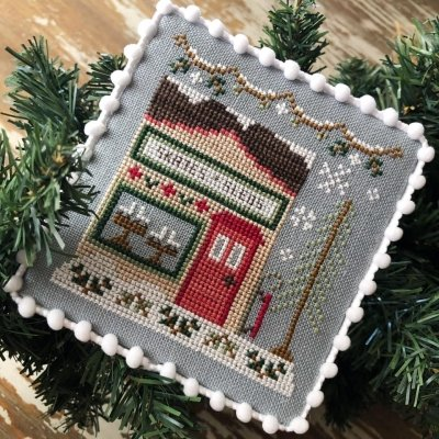 Country Cottage Needleworks Snow Village: Skate and Sled Shop 2 of 11