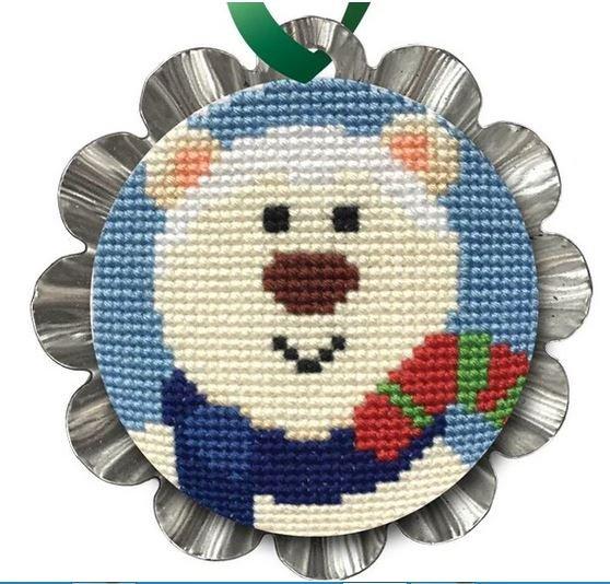 Creative Needle Arts Jolly Polar Bear Ornament kit