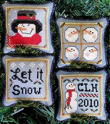 Prairie Grove Peddler Snowman Ornaments