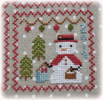 Annie Beez Folk Art Snowy 9 Patch Series Part 9