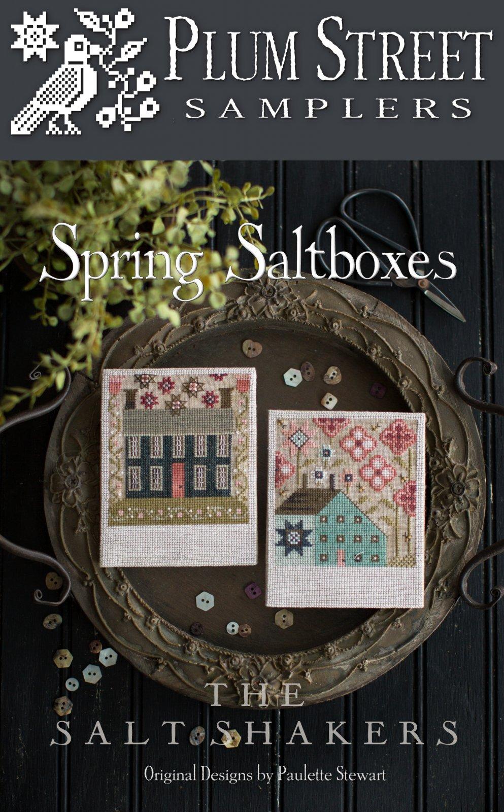 Plum Street Samplers Spring Saltboxes