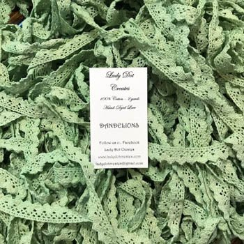 Lady Dot Creates Hand-dyed Lace Dandelions