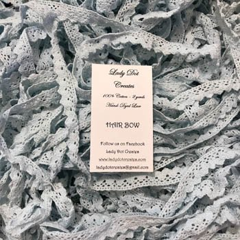 Lady Dot Creates Hand-dyed Lace Hair Bow