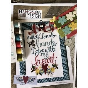 Hands On Design Give With My Heart w/embellishments