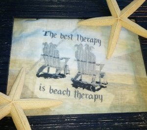 White Lyon Needleart Beach Therapy