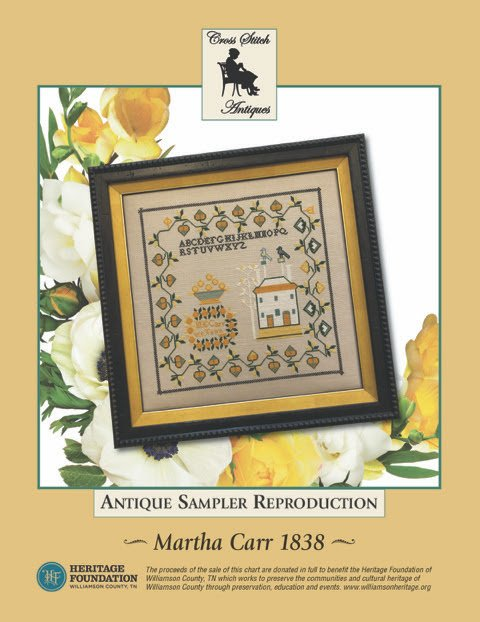 Cross Stitch Antiques Martha Carr 1838