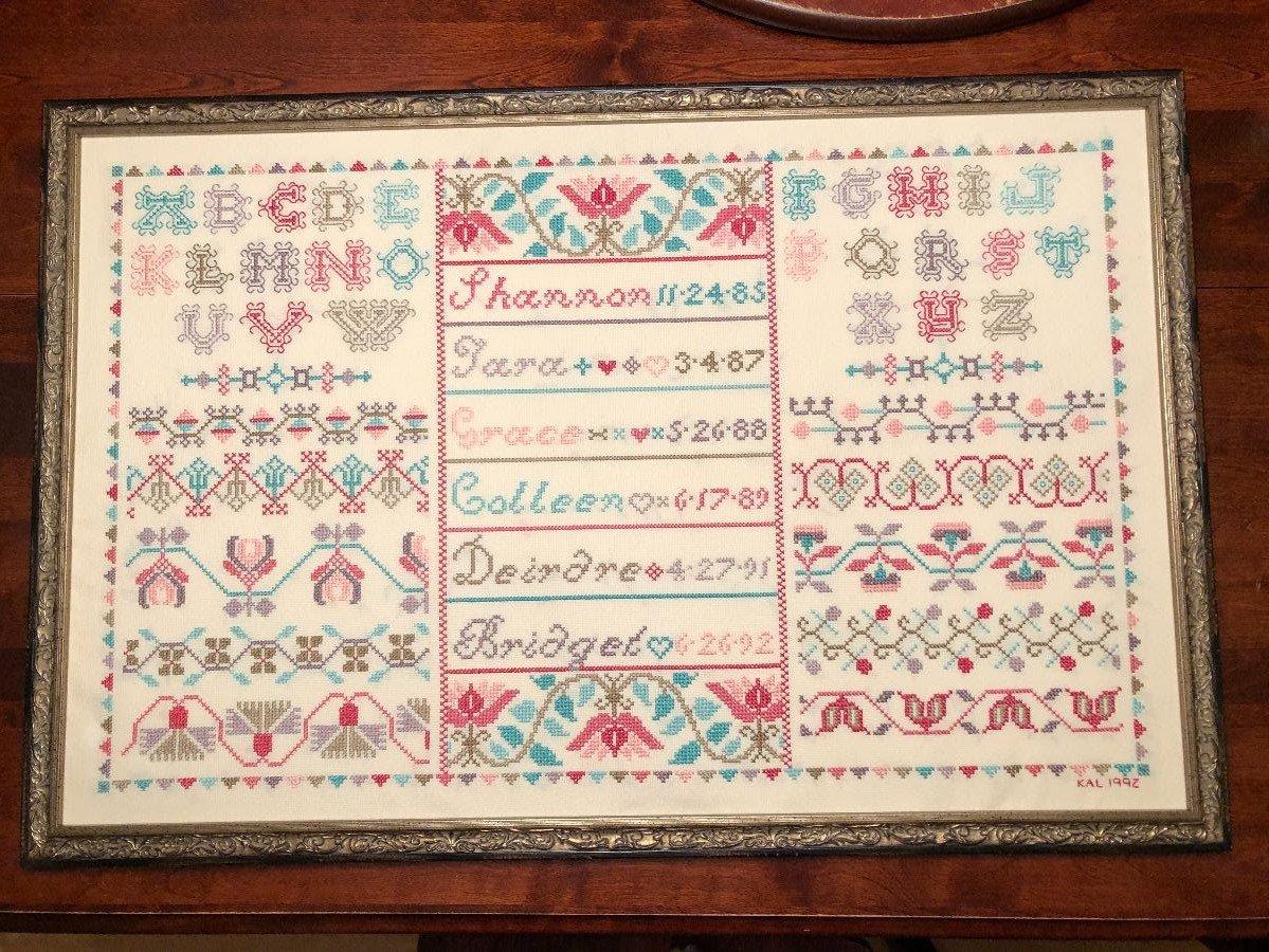 Cross Stitch Antiques Six Little Girls Sampler