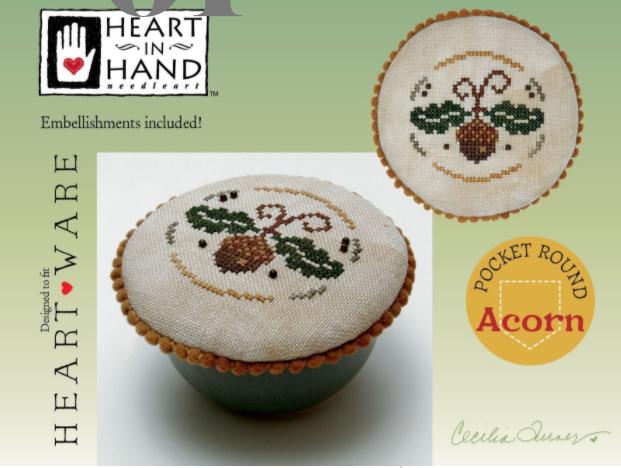 Heart in Hand Pocket Round: Acorn