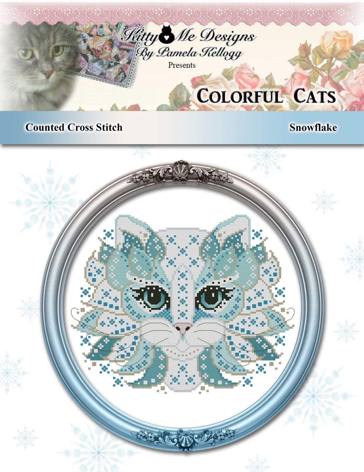 Kitty and Me Colorful Cats Snowflake
