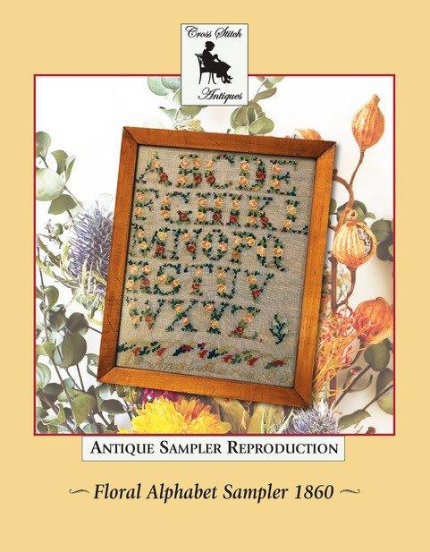Cross Stitch Antiques Floral Alphabet Sampler