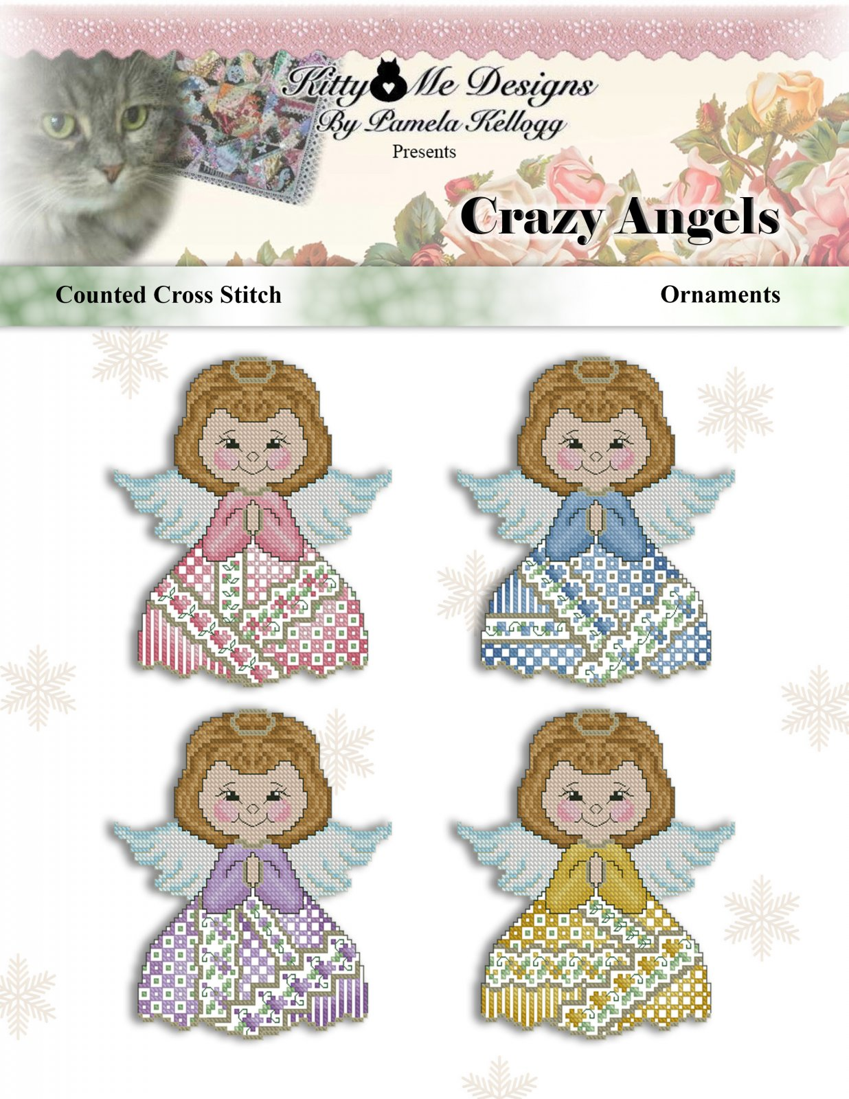 Kitty and Me Crazy Angels Ornaments