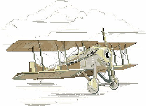 Kooler Classic Charts Vintage Airplane