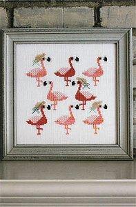 Sekas & Co. Watercolour Flamingos