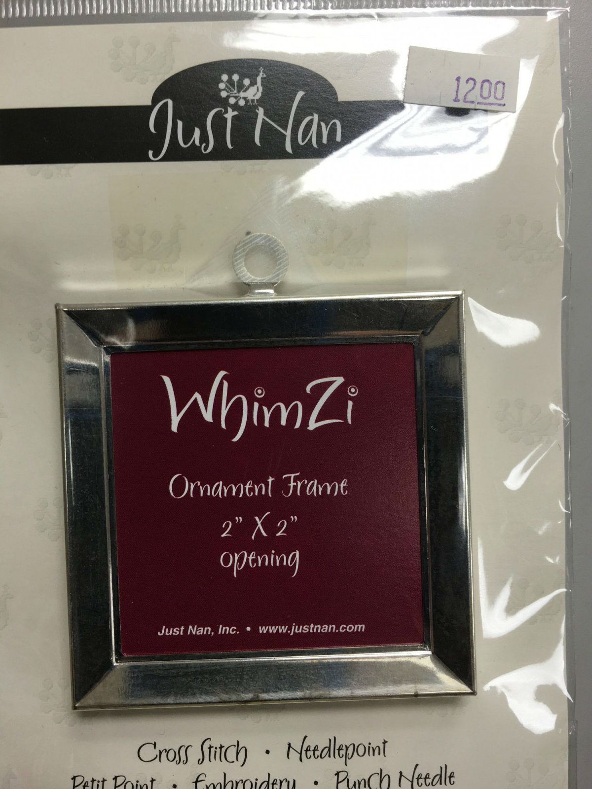 Just Nan WhimZi Ornament Frame silver