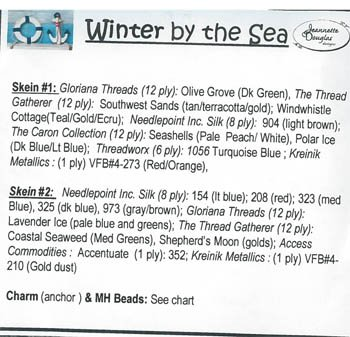 Jeannette Douglas Designs Winter by the Sea 4 of 4 Thread Pack