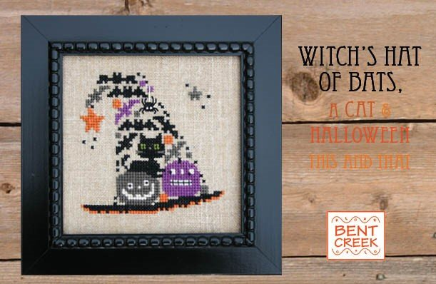 Bent Creek Witch's Hat of Bats, a Cat, & Halloween This and That kit