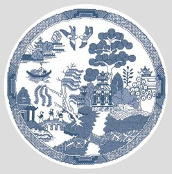 Heritage Stitchcraft Blue Willow Pattern kit