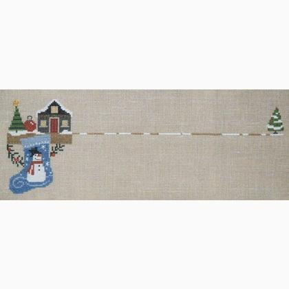 Bent Creek The Christmas Mantle - Snowman Stocking Kit 1 of 3