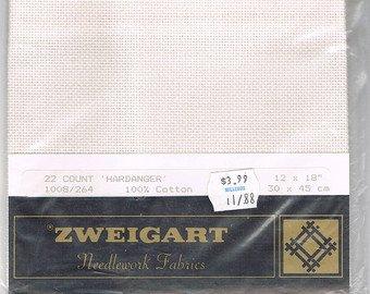 Zweigart Hardanger White 15x18 22ct