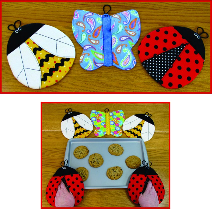 Bugs!  Pot Holders  #ST-1206