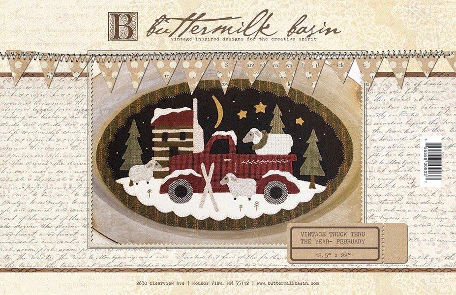 Buttermilk Basin Vintage Truck Pattern-February