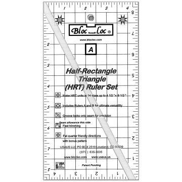 Bloc Loc Half-Rectangle Triangle Mini Ruler