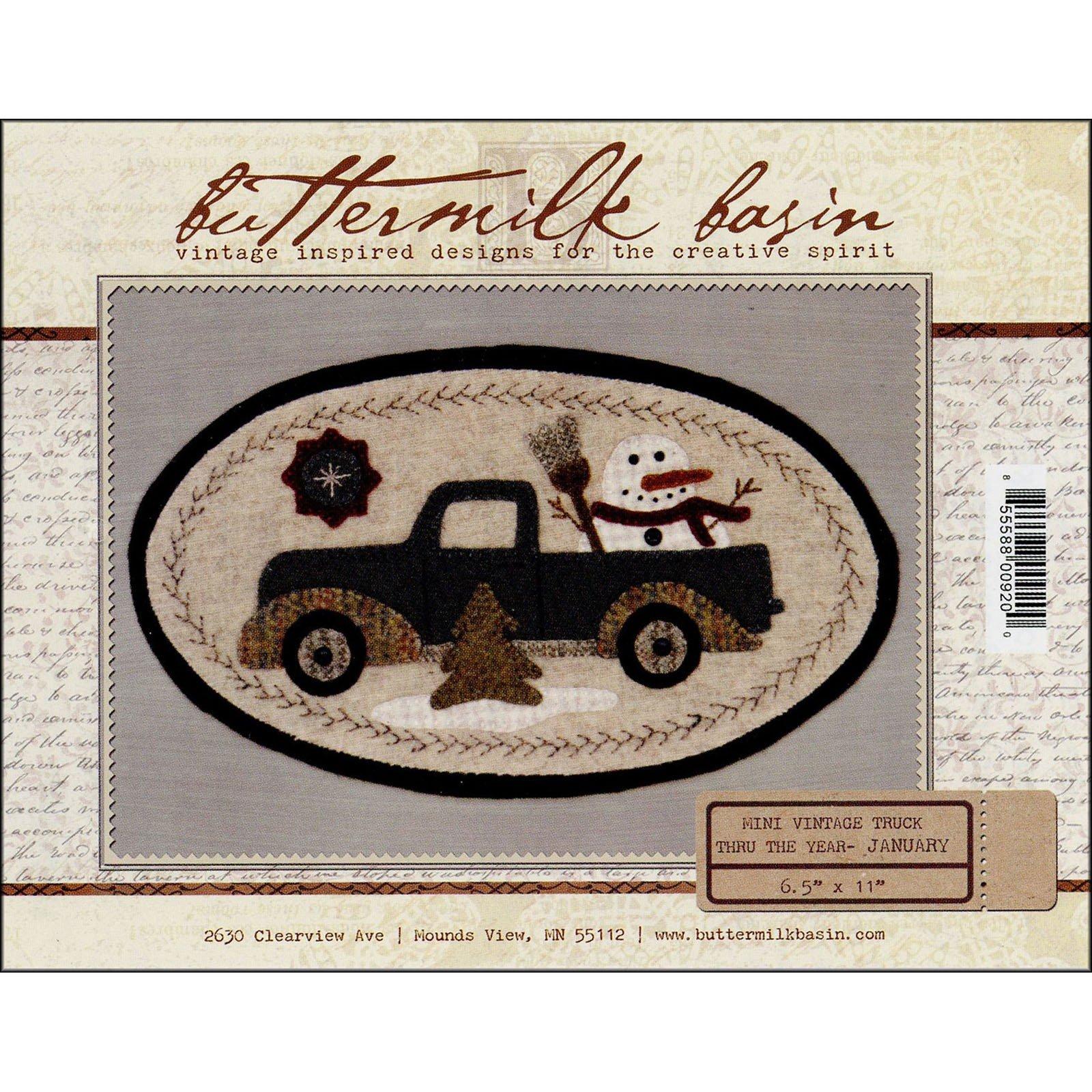 Buttermilk Basin Mini Vintage Truck Pattern-January