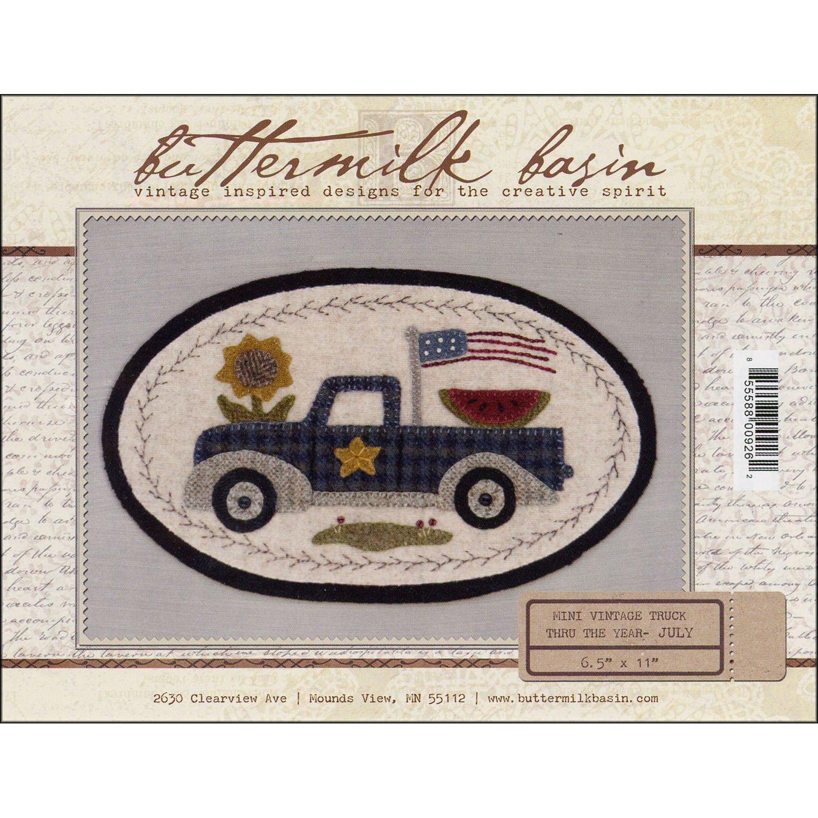 Buttermilk Basin Mini Vintage Truck Pattern-July