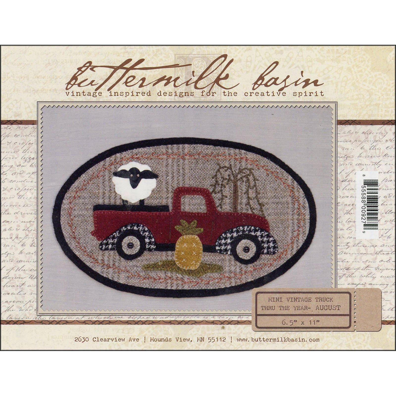 Buttermilk Basin Mini Vintage Truck Pattern-August