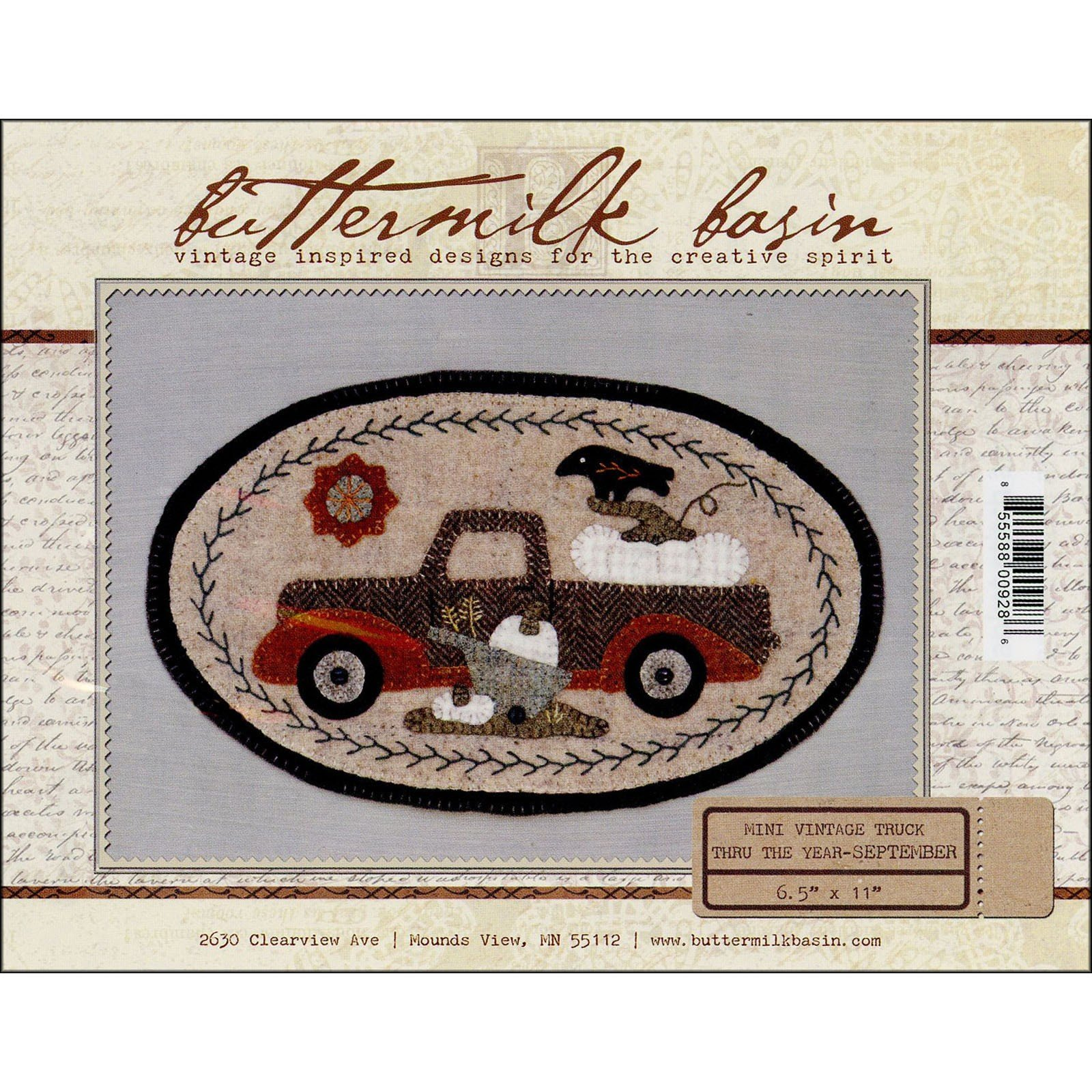 Buttermilk Basin Mini Vintage Truck Pattern-September