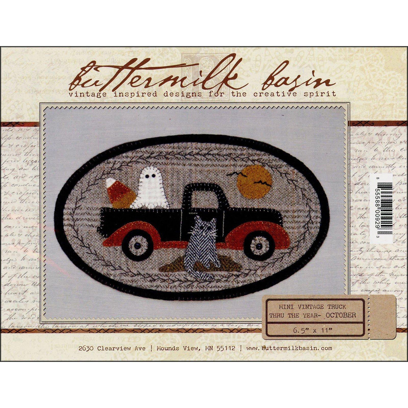 Buttermilk Basin Mini Vintage Truck Pattern-October
