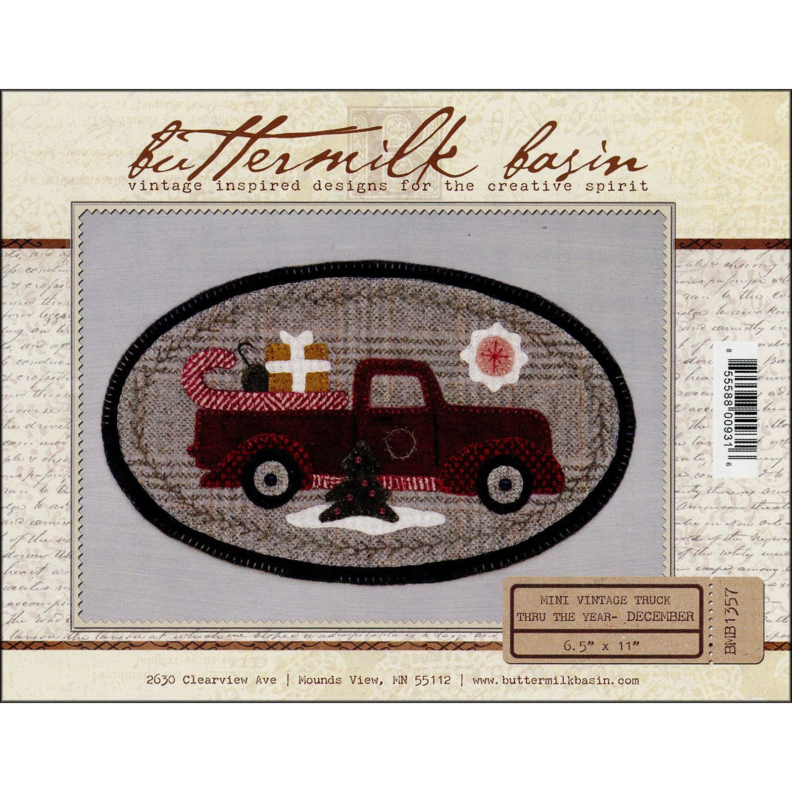 Buttermilk Basin Mini Vintage Truck Pattern-December