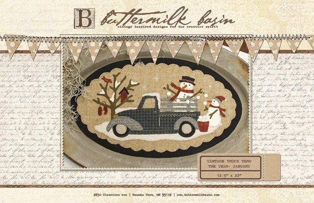 Buttermilk Basin Vintage Truck Pattern-January