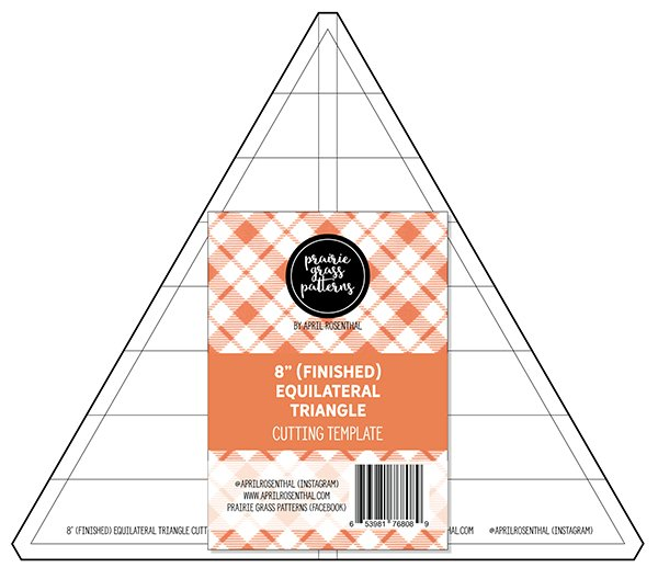 BOO Acrylic 8 Equilateral Triangle Template