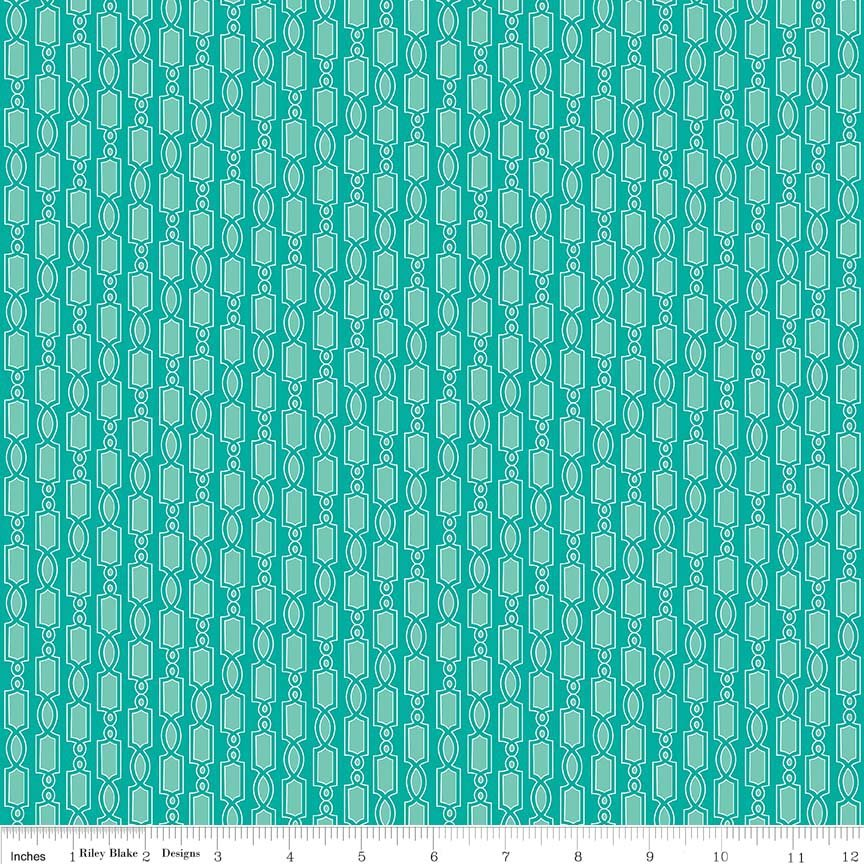 Austen Geometric Teal