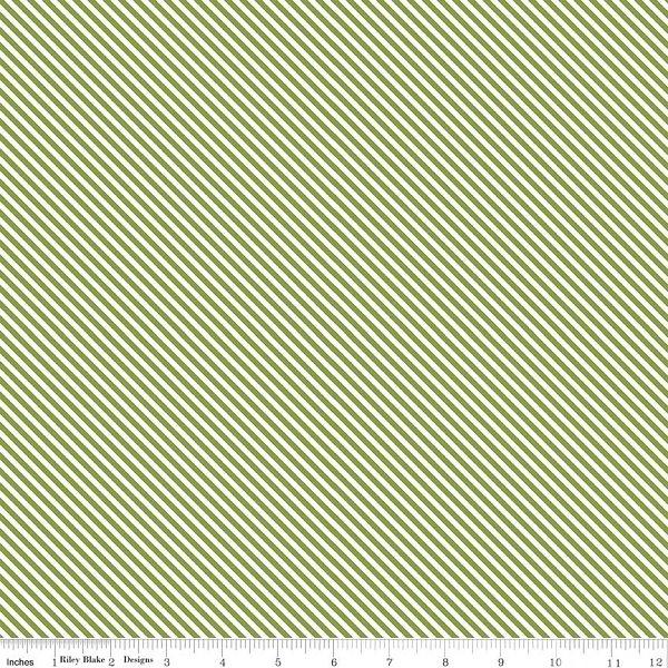 Summer Blush Green Stripe C7446 from Riley Blake Designs