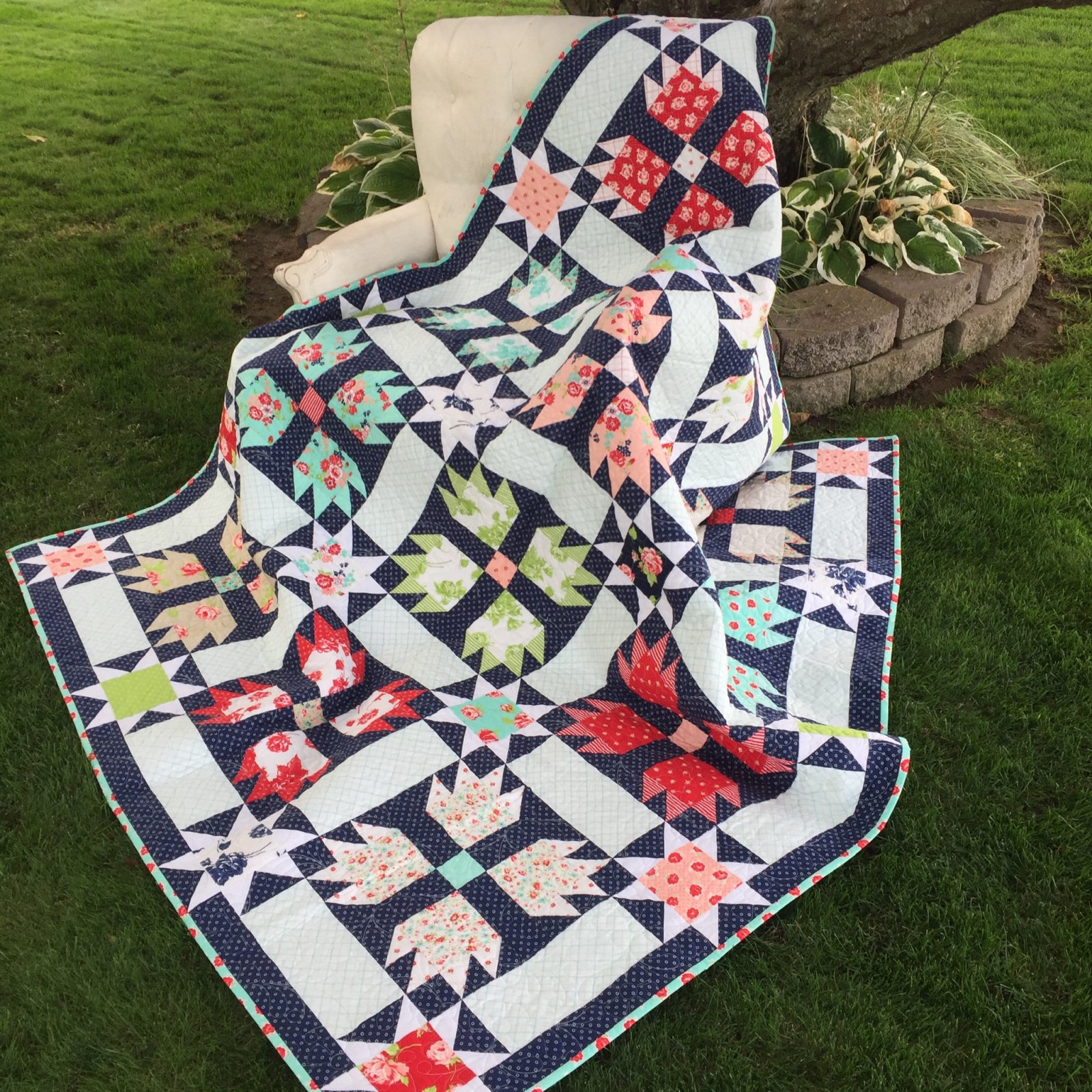 Over the Moon Quilt Kit w/Smitten Fabric by Bonnie & Camille