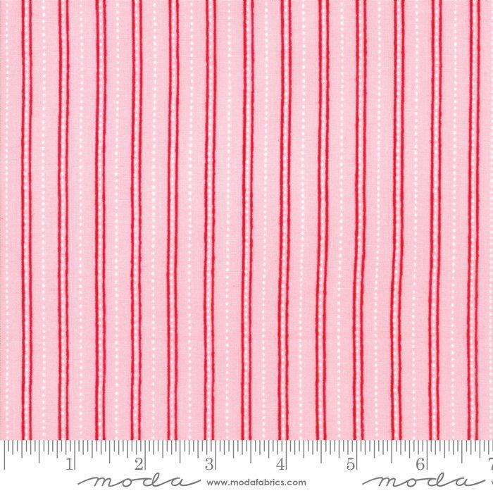 Merry Merry Snow Days Pink Stripe