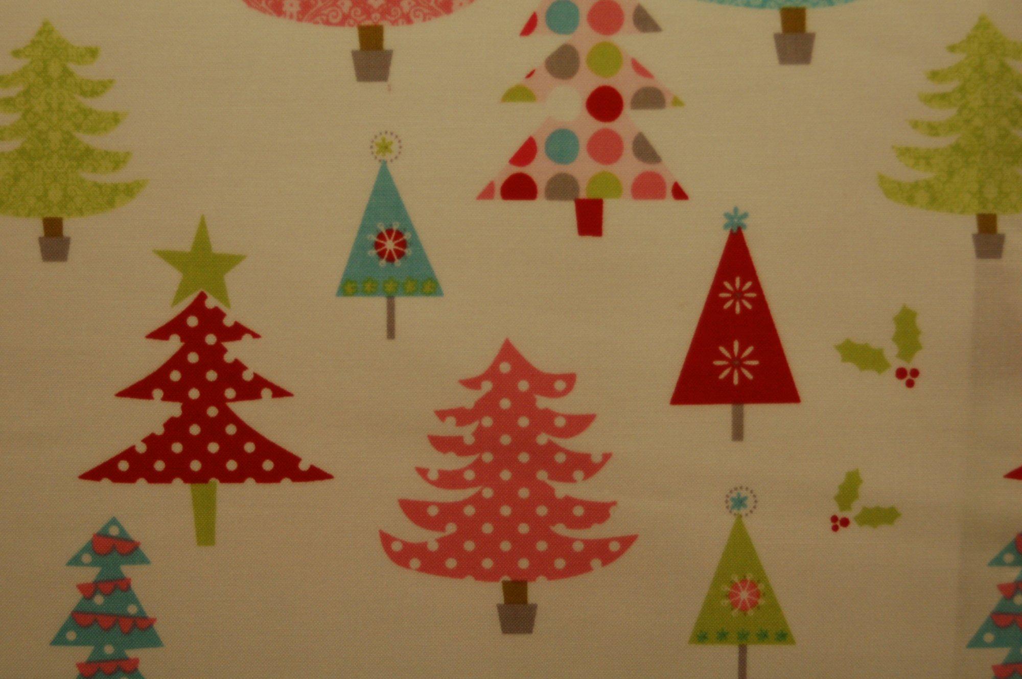 Christmas Basics - Trees (White) from Riley Blake Designs